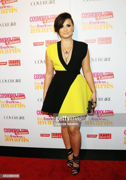 Singer Demi Lovato attends Cosmopolitan Fun Fearless Latina Awards at Hearst Tower on June 4 2014 in New York City
