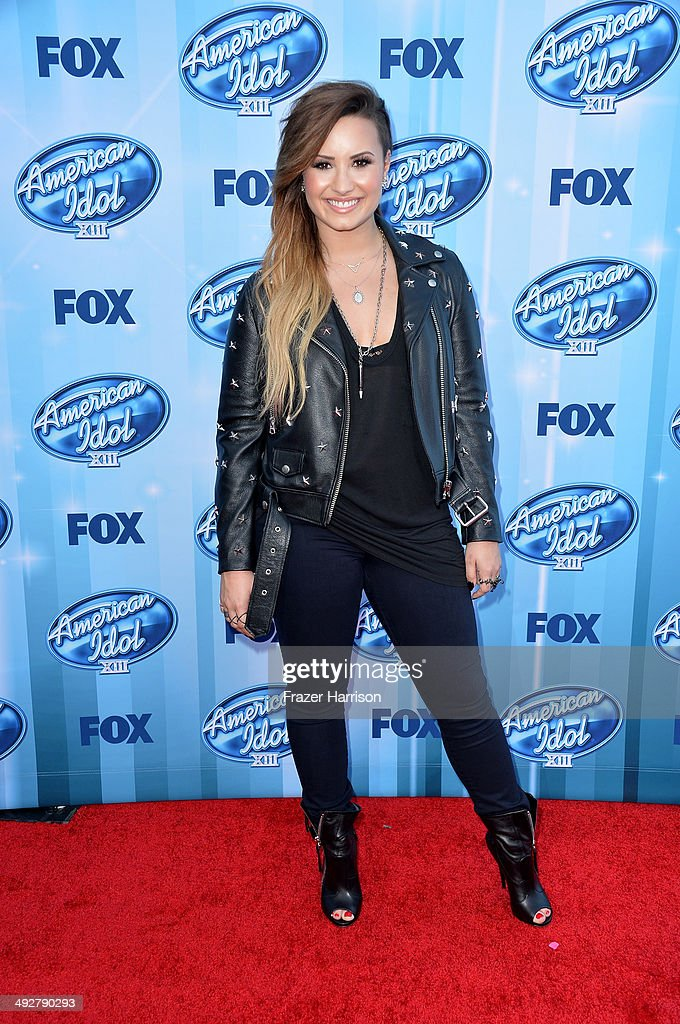 Singer Demi Lovato attends Fox's 'American Idol' XIII Finale at Nokia Theatre L.A. Live on May 21, 2014 in Los Angeles, California.