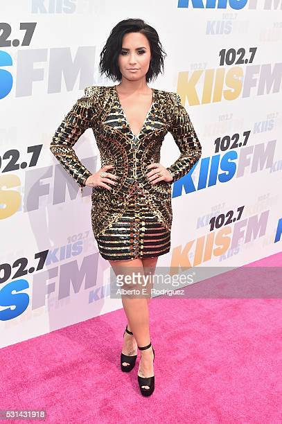 Singer Demi Lovato attends KIIS FM's Wango Tango 2016 at StubHub Center on May 14 2016 in Carson California