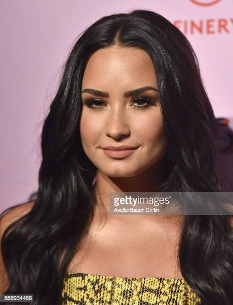 Singer Demi Lovato attends Refinery29 29Rooms Los Angeles Turn It Into Art at ROW DTLA on December 6 2017 in Los Angeles California