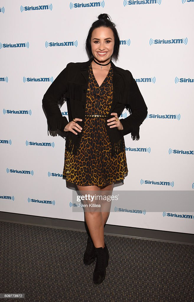 Singer Demi Lovato attends SiriusXM Hits 1's The Morning Mash Up Broadcast From The SiriusXM Studios In Los Angeles on February 12, 2016 in Los Angeles, California.