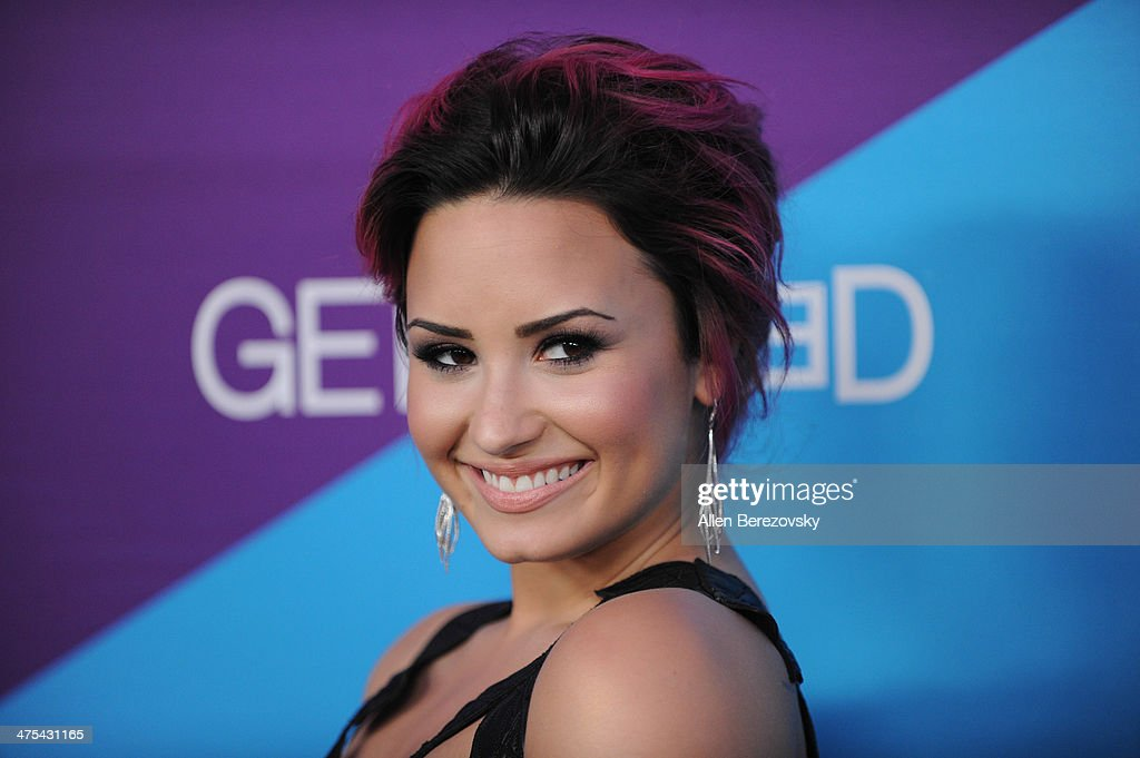 Singer Demi Lovato attends the 1st Annual Unite4:humanity Event hosted by Unite4good and Variety on February 27, 2014 in Los Angeles, California.