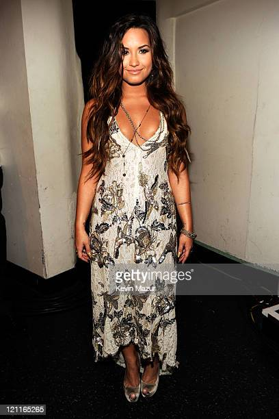Singer Demi Lovato attends the 2011 VH1 Do Something Awards at the Hollywood Palladium on August 14 2011 in Hollywood California