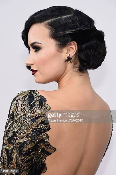 Singer Demi Lovato attends the 2015 American Music Awards at Microsoft Theater on November 22 2015 in Los Angeles California
