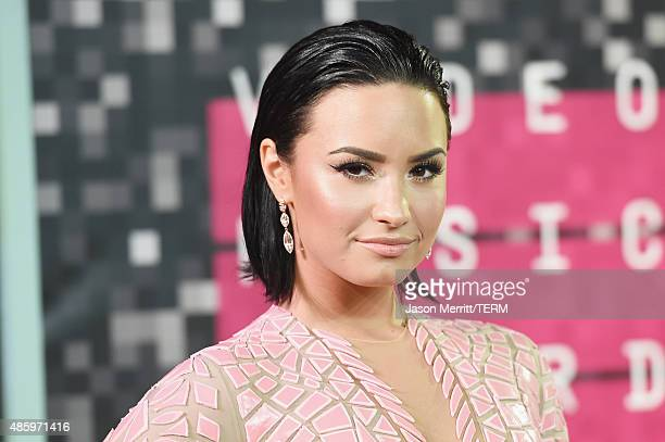 Singer Demi Lovato attends the 2015 MTV Video Music Awards at Microsoft Theater on August 30 2015 in Los Angeles California