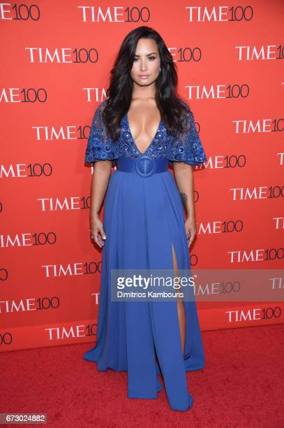 Singer Demi Lovato attends the 2017 Time 100 Gala at Jazz at Lincoln Center on April 25 2017 in New York City