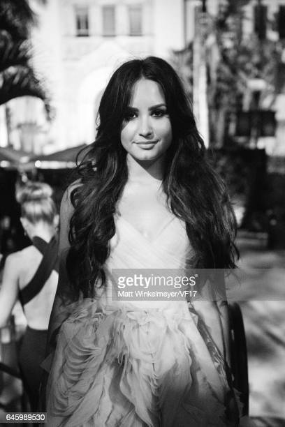 Singer Demi Lovato attends the 2017 Vanity Fair Oscar Party hosted by Graydon Carter at Wallis Annenberg Center for the Performing Arts on February...