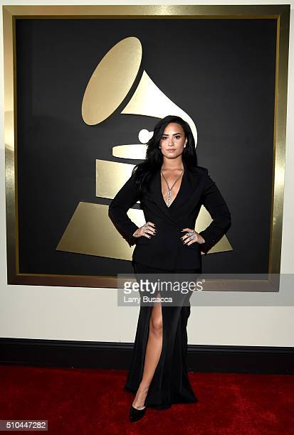 Singer Demi Lovato attends The 58th GRAMMY Awards at Staples Center on February 15 2016 in Los Angeles California