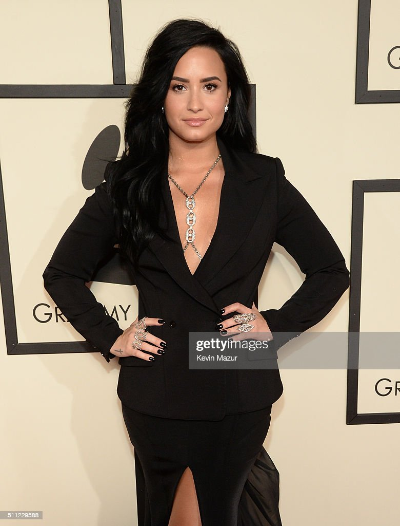Singer Demi Lovato attends The 58th GRAMMY Awards at Staples Center on February 15, 2016 in Los Angeles, California.