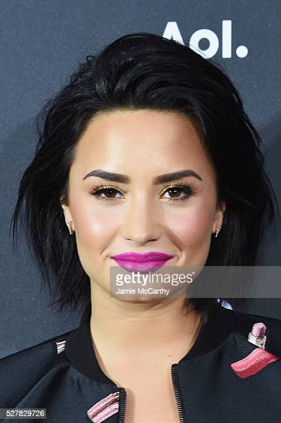 Singer Demi Lovato attends the AOL NewFront 2016 at Seaport District NYC on May 3 2016 in New York City