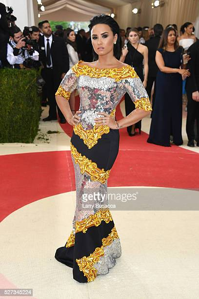 Singer Demi Lovato attends the 'Manus x Machina Fashion In An Age Of Technology' Costume Institute Gala at Metropolitan Museum of Art on May 2 2016...