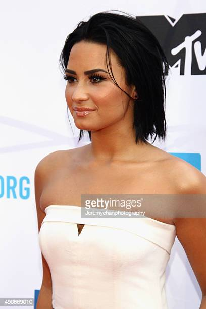 Singer Demi Lovato attends WE Day Toronto at the Air Canada Centre on October 1 2015 in Toronto Canada