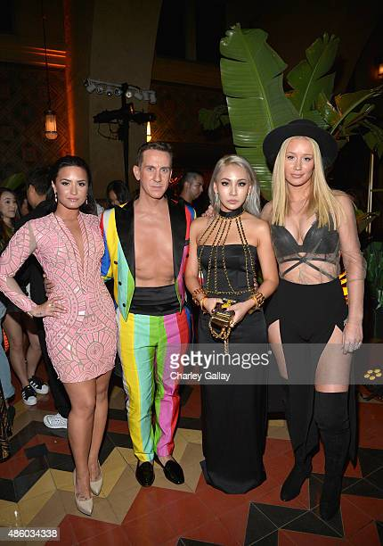 Singer Demi Lovato designer Jeremy Scott Korean pop star CL and singer Iggy Azalea attend the Jeremy Scott and adidas Originals VMA's After Party...