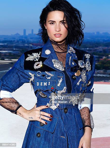 Singer Demi Lovato is photographed for Elle Canada on June 4 2016 in Los Angeles California PUBLISHED IMAGE