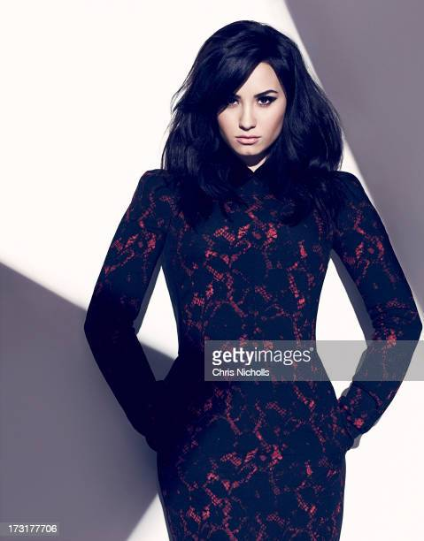 Singer Demi Lovato is photographed for Fashion Magazine on August 1, 2013 in Los Angeles, California. Dress . PUBLISHED IMAGE.