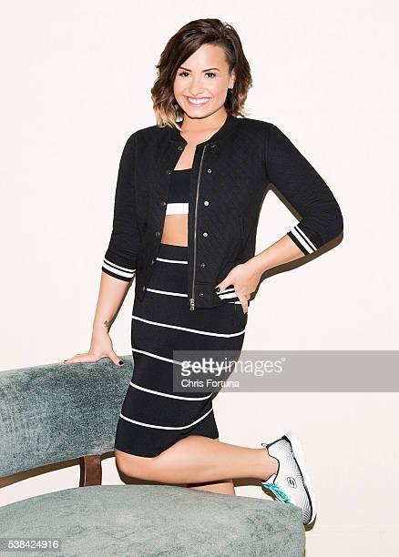 Singer Demi Lovato is photographed for Fitness Magazine on September 22, 2014 in Kansas City, Kansas.