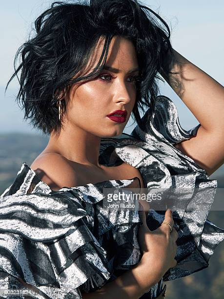 Singer Demi Lovato is photographed for Latina Magazine on March 1 2016 in Los Angeles California