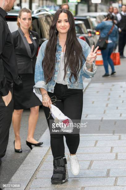 Singer Demi Lovato is seen on June 4 2018 in Paris France