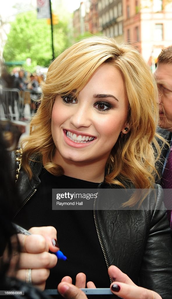 Singer Demi Lovato is seen outside 'Citrur Bar&Grill' on May 13, 2013 in New York City.
