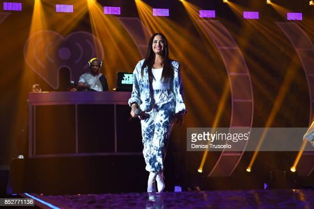 Singer Demi Lovato onstage during the 2017 iHeartRadio Music Festival at TMobile Arena on September 23 2017 in Las Vegas Nevada