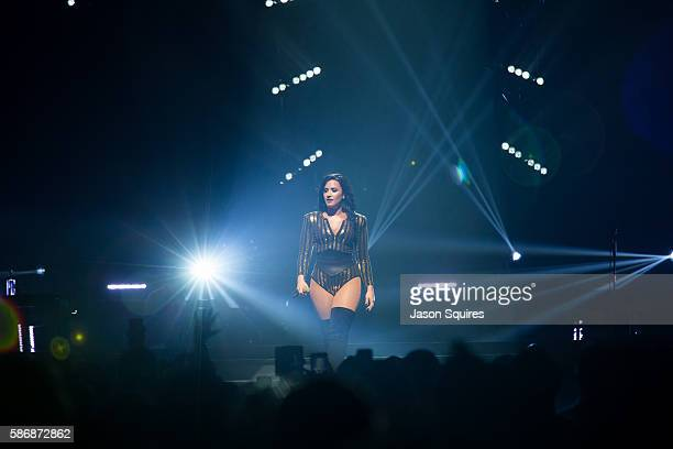 Singer Demi Lovato performs at Sprint Center on August 6 2016 in Kansas City Missouri