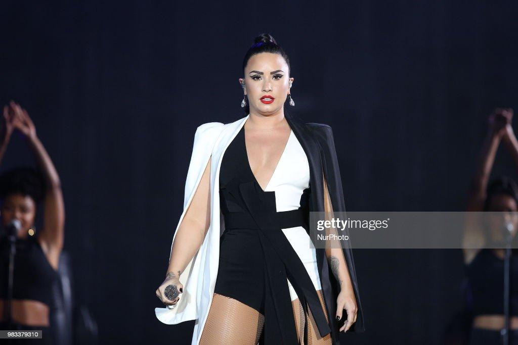 Demi Lovato Performs At Rock In Rio : News Photo