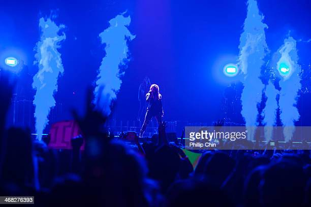 "Singer Demi Lovato performs her first concert of ""The Neon Lights Tour"" at Rogers Arena on February 9, 2014 in Vancouver, Canada."