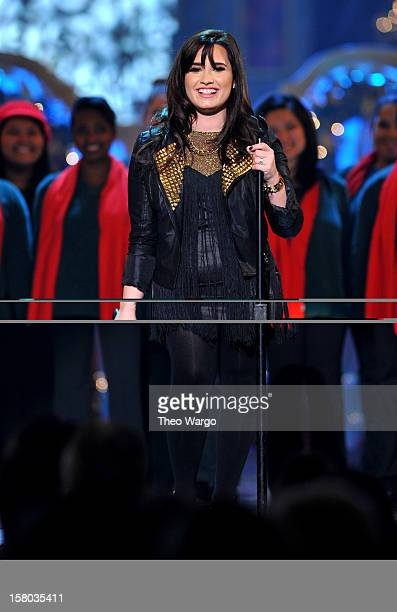 Singer Demi Lovato performs onstage during TNT Christmas in Washington 2012 at National Building Museum on December 9 2012 in Washington DC...
