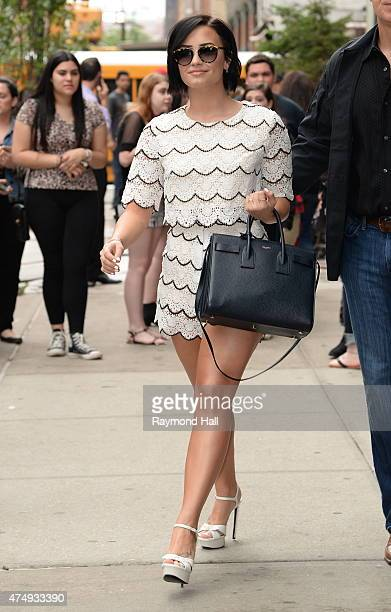 Singer Demi Lovato seen leaving her hotel on May 28 2015 in New York City