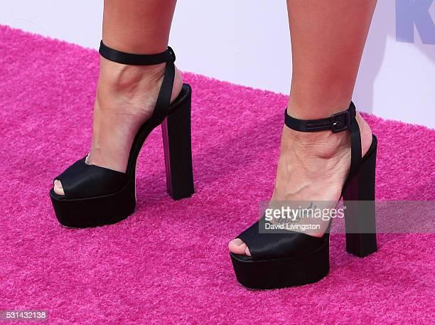 Singer Demi Lovato shoe detail attends 1027 KIIS FM's 2016 Wango Tango at StubHub Center on May 14 2016 in Carson California