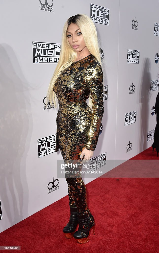 Singer Dencia attends the 2014 American Music Awards at Nokia Theatre L.A. Live on November 23, 2014 in Los Angeles, California.