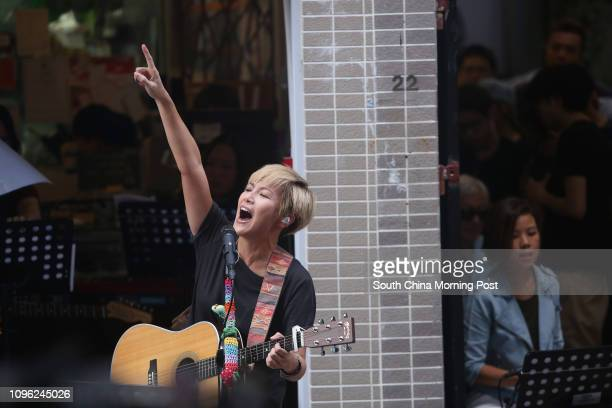 Singer Denise Ho Wan-sze preforms during her concert 'HOCC X PPHO community - The Beauty of We' at Po Hing Fong in Sheung Wan. 19JUN16 SCMP/Sam Tsang