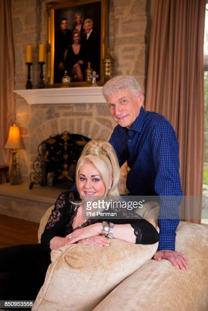 Singer Dennis DeYoung and wife Suzanne DeYoung are photographed for Closer Weekly Magazine on April 26 2016 at home in Illinois