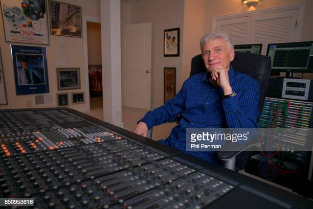 Singer Dennis DeYoung is photographed for Closer Weekly Magazine on April 26 2016 at home in Illinois In his home recording studio