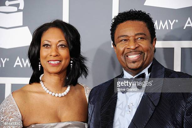 Singer Dennis Edwards and Brenda Edwards attend the 55th Annual GRAMMY Awards at STAPLES Center on February 10, 2013 in Los Angeles, California.