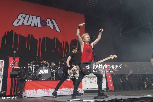 Singer Deryck Whibley of SUM 41 performs on stage during the second day of 'Rock am Ring' on June 3 2017 in Nuerburg Germany