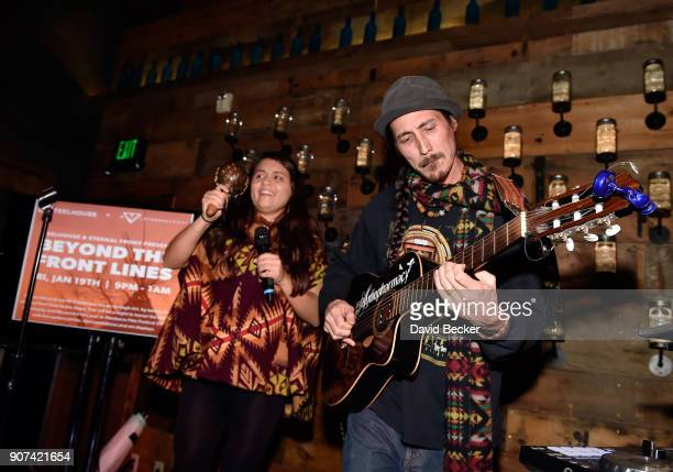 Singer Desirae Harp and guitarist Teao Sense perform at Steelhouse and Eternal Front presents Beyond the Front Lines during the 2018 Sundance Film...