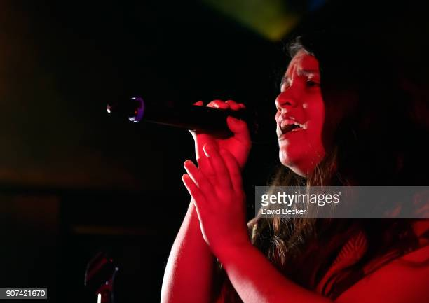 Singer Desirae Harp performs at Steelhouse and Eternal Front presents Beyond the Front Lines during the 2018 Sundance Film Festival on January 19...