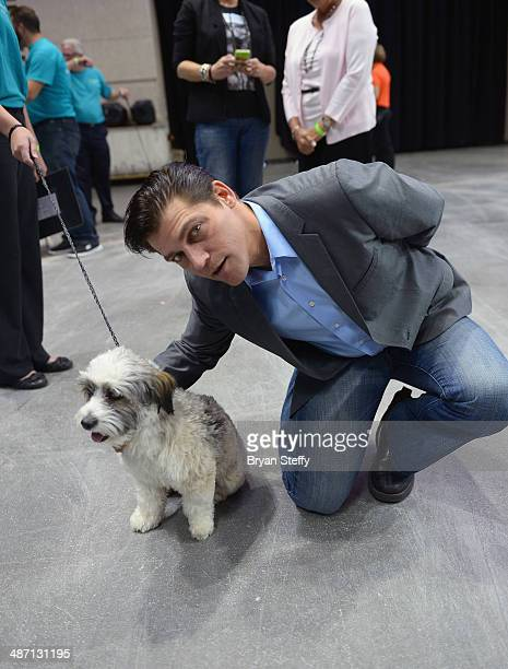 Singer Deven May attends The Animal Foundation's 11th annual 'Best in Show' a benefit for the animal shelter at Orleans Arena on April 27 2014 in Las...