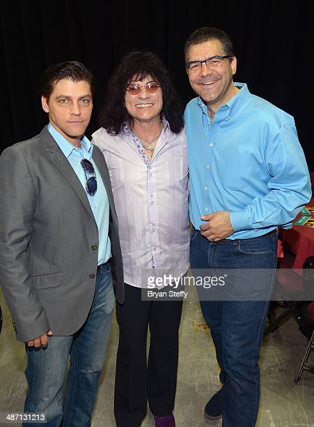 Singer Deven May singer Paul Shortino and writer John Katsilometes attend The Animal Foundation's 11th annual 'Best in Show' a benefit for the animal...