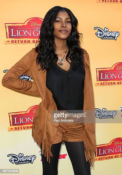 Singer Diamond White attends the premiere of Disney Channel's 'The Lion Guard Return Of The Roar' at Walt Disney Studios on November 14 2015 in...