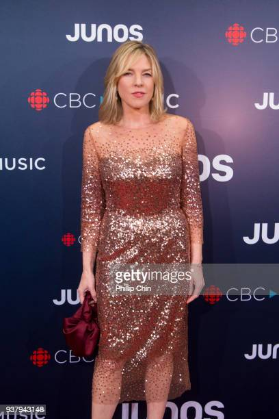 Singer Diana Krall attends the red carpet arrivals at the 2018 Juno Awards at Rogers Arena on March 25 2018 in Vancouver Canada