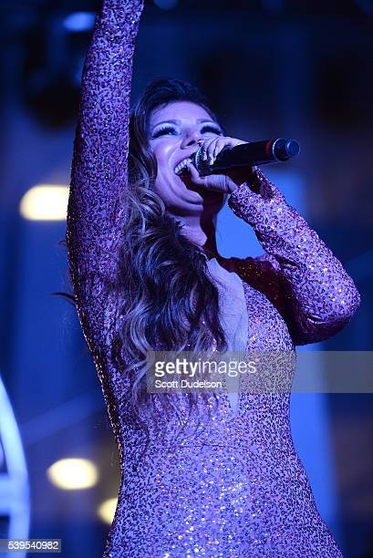 Singer Diana Reyes performs onstage during the LA Pride Festival on June 11 2016 in West Hollywood California
