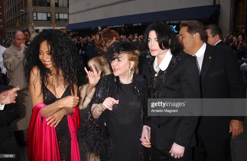 Singer Diana Ross Actress Elizabeth Taylor And Michael Jackson Attend The Wedding Of Liza