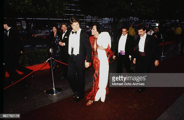 Singer Diana Ross and Ernest Thompson arrive to the 54th Academy Awards at Dorothy Chandler Pavilion in Los AngelesCalifornia
