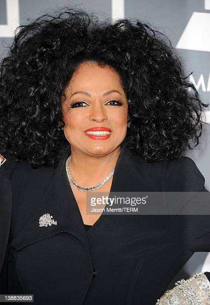 Singer Diana Ross arrives at the 54th Annual GRAMMY Awards held at Staples Center on February 12 2012 in Los Angeles California