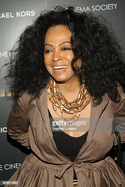 Singer Diana Ross attends a screening of 'Iron Man' hosted by the Cinema Society and Michael Kors at the Tribeca Grand Screening Room on April 28...