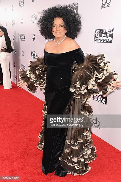 Singer Diana Ross attends the 2014 American Music Awards at Nokia Theatre LA Live on November 23 2014 in Los Angeles California