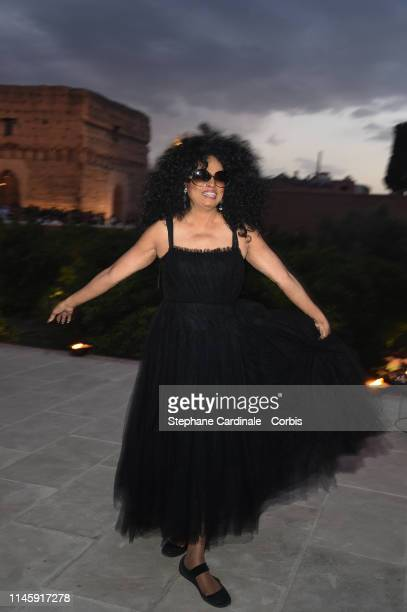 Singer Diana Ross attends the Christian Dior Couture S/S20 Cruise Collection on April 29, 2019 in Marrakech, Morocco.