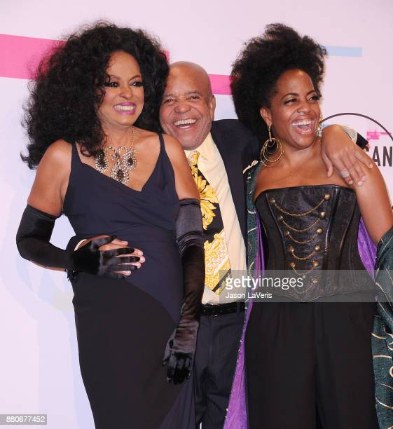 Singer Diana Ross Berry Gordy and Rhonda Ross Kendrick pose in the press room at the 2017 American Music Awards at Microsoft Theater on November 19...
